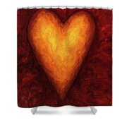 Heart Of Gold 3 Shower Curtain