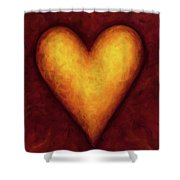 Heart Of Gold 4 Shower Curtain