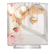 Heart Of Roses Shower Curtain