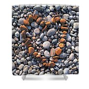 Heart Of Stones Shower Curtain
