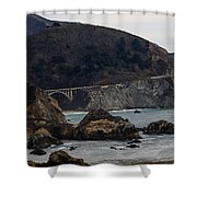 Heart Of The Bixby Bridge Shower Curtain