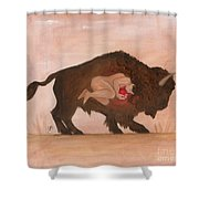 Heart Of The Buffalo Shower Curtain