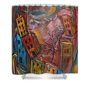 Heart Of The City Shower Curtain