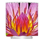 Heart Of The Lotus Shower Curtain