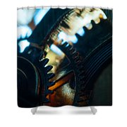 Heart Of The Machine - Time Shower Curtain