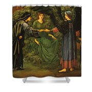 Heart Of The Rose 1889 Shower Curtain