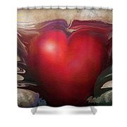 Heart Of The Sunrise Shower Curtain