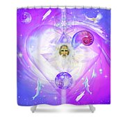 Heart Of The Violet Flame Shower Curtain