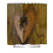 Heart Of The Wood Shower Curtain