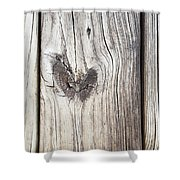Heart Of Wood Shower Curtain