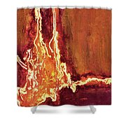 Heart On Fire Shower Curtain