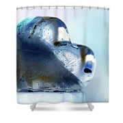 Heart On The Edge Shower Curtain
