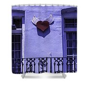 Heart On Wall Shower Curtain