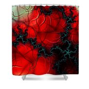 Heart Pulse Shower Curtain