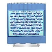 Heart Says I Am Love Shower Curtain