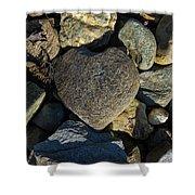Heart Shaped Stone Loch Fyne  Shower Curtain