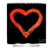 Heart - Symbol Of Love - Watercolor Painting Shower Curtain