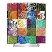 Heart To Heart Rendition 5x6 Equals 30  Shower Curtain