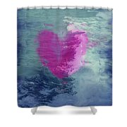 Heart Waves Shower Curtain