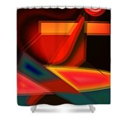 Heartbeats Shower Curtain