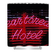 Heartbreak Hotel Neon Shower Curtain