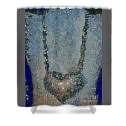 Hearted On Your Wall Again Medalion Painting Shower Curtain