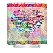 Heartfull Messages Shower Curtain