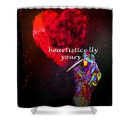 Heartistically Yours Shower Curtain
