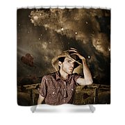 Heartland Of Outback Country Australia Shower Curtain