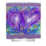 Hearts 1 Shower Curtain