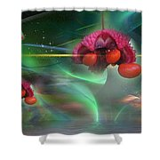 Heart's Aburstin Shower Curtain
