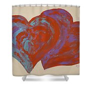 Hearts A-flutter Shower Curtain
