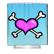 Heart And Bones Shower Curtain