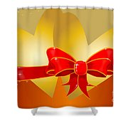 Hearts And Bow Shower Curtain