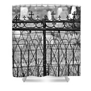 Hearts And Crosses Shower Curtain