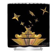 Hearts And Stars Shower Curtain