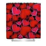 Hearts Collage Shower Curtain