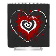 Hearts Graphic 1 Shower Curtain