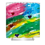 heARTs Of The Sea Shower Curtain