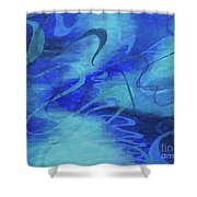 Heartsong Blue 1 Shower Curtain