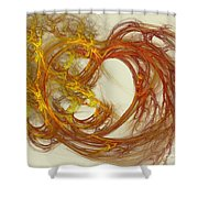 Heat Of The Heart Shower Curtain