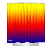 Heat Wave Abstract Design Shower Curtain