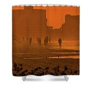 Heat Waves Shower Curtain