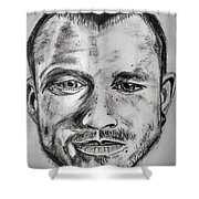 Heath Ledger Charcoal Sketch Shower Curtain