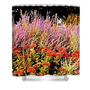 Heather And Sedum Shower Curtain