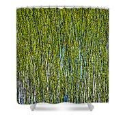 Heather Lake Grass Shower Curtain