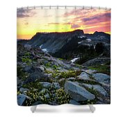 Heather Meadows Sunset Shower Curtain