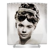 Heather Sears, Vintage Actress Shower Curtain