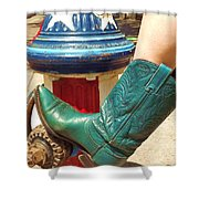 Heather's Boot Shower Curtain