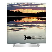 Heathers Lake Shower Curtain